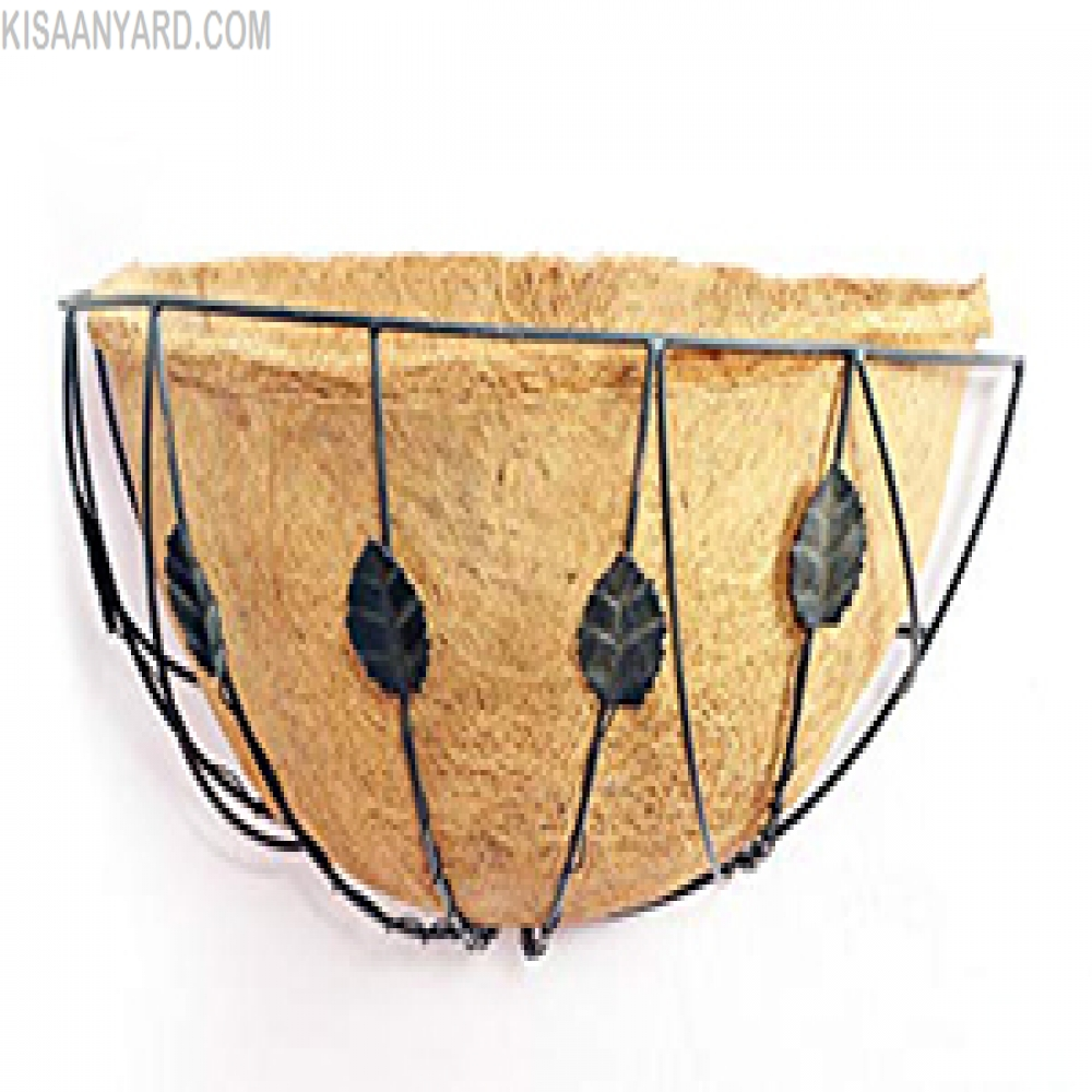 Coir Wall Basket wit